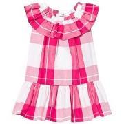 Il Gufo Fuchsia Frill Drop Waist Dress 2 years