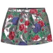 MSGM Silver Floral Metallic Skirt 4 years