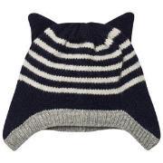 Emile et Ida Striped Hat with Ears Marine 3 mnd