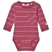 ebbe Kids Wemmert Baby Body Midnight Rose/Grey Stripe 62 cm