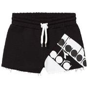 Diadora Black Branded Sweat Shorts S (8 years)