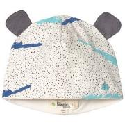The Bonnie Mob Printed Hat With Ears with Blue Scribble Waves Print 12...