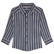 Emile et Ida Blue Rayure Striped Shirt 6 år