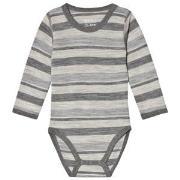 Hust&Claire Bo Baby Body Grey Melange 56 cm (1-2 mnd)