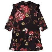 Petit by Sofie Schnoor Black Floral Dress 104 cm