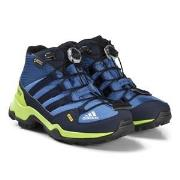 adidas Performance Blue and Green Terrex Mid Gortex Hiking Boots 30 (U...