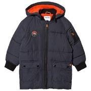 Mayoral Navy Blue & Orange Puffer Jacket 5 years
