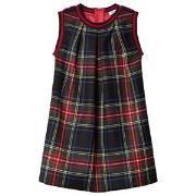 Dolce & Gabbana Red Tartan Front and Grey Back Interlock Dress 2 years