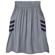 Bobo Choses Happy Sad Empty Midi Skirt Dusty Blue 2-3 år