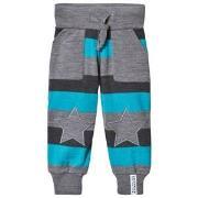 Geggamoja Wool Pants Grey/blue 56/68 cm