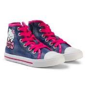 Hello Kitty Sneakers High Blue/Fuxia 29 EU