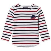 Tommy Hilfiger White, Red and Navy Long Sleeve Tee 6 years