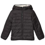 Lands' End Black Quilted Jacket 4 years