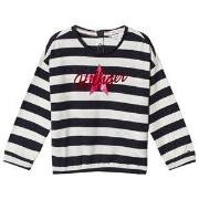 Tommy Hilfiger Navy Stripe Flocked Star Branded Long Sleeve Tee 92 (18...