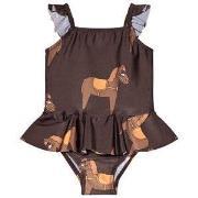 Mini Rodini Horse Skirt Swimsuit Brown 140-146cm (10-11 years)