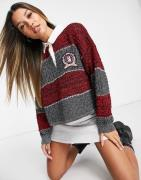 Tommy Hilfiger Collections cropped crest sweatshirt in grey