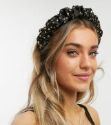 My Accessories London Exclusive ruched headband with celestial star de...
