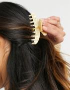 ASOS DESIGN hair claw in bone-Neutral